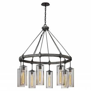 Troy Lighting Union Square 36 Inch 8 Light Chandelier Union Square - F5918 - Industrial