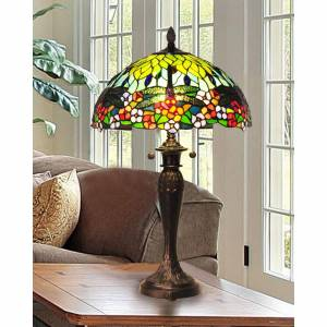 Dale Tiffany Dragonfly 29 Inch Table Lamp Dragonfly - TT100588 - Tiffany Glass