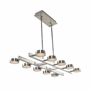 Artcraft Terranova 40 Inch 10 Light LED Linear Suspension Light Terranova - AC7540 - Modern Contemporary