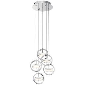 Elan Lighting Baylin 11 Inch 5 Light LED Multi Light Pendant Baylin - 84144 - Modern Contemporary