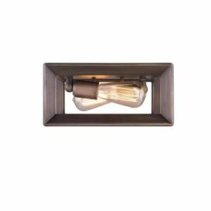 Golden Lighting Smyth 12 Inch 2 Light Flush Mount Smyth - 2073-FM GMT - Modern Contemporary