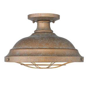 Golden Lighting Bartlett 14 Inch 2 Light Semi Flush Mount Bartlett - 7312-SF CP - Industrial