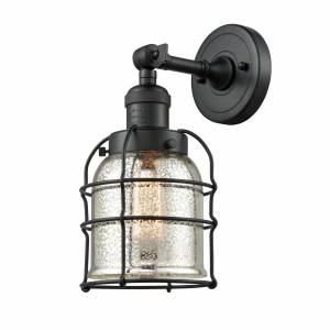 Innovations Lighting Bruno Marashlian Small Bell Cage 12 Inch LED Wall Sconce Small Bell Cage - 203-BK-G58-CE-LED - Restoration-Vintage