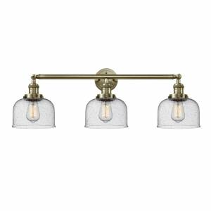 Innovations Lighting Bruno Marashlian Large Bell 32 Inch 3 Light Bath Vanity Light Large Bell - 205-AB-S-G74 - Restoration-Vintage