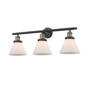Innovations Lighting Bruno Marashlian Large Cone 32 Inch 3 Light Bath Vanity Light Large Cone - 205-BAB-G41 - Restoration-Vintage