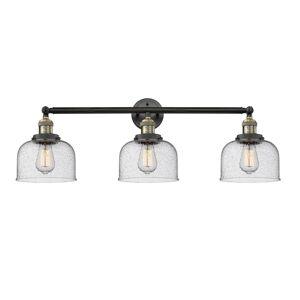 Innovations Lighting Bruno Marashlian Large Bell 32 Inch 3 Light Bath Vanity Light Large Bell - 205-BAB-S-G74 - Restoration-Vintage