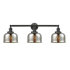 Innovations Lighting Bruno Marashlian Large Bell 32 Inch 3 Light LED Bath Vanity Light Large Bell - 205-BK-S-G78-LED - Restoration-Vintage
