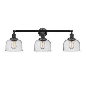 Innovations Lighting Bruno Marashlian Large Bell 32 Inch 3 Light LED Bath Vanity Light Large Bell - 205-OB-S-G74-LED - Restoration-Vintage