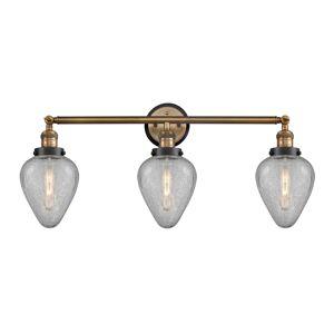 Innovations Lighting Bruno Marashlian Geneseo 32 Inch 3 Light Bath Vanity Light Geneseo - 205BB-BPBK-HRBK-G165 - Modern Contemporary