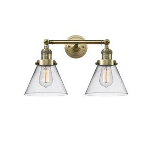 Innovations Lighting Bruno Marashlian Large Cone 18 Inch 2 Light Bath Vanity Light Large Cone - 208-AB-G42 - Restoration-Vintage