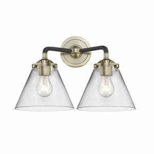 Innovations Lighting Bruno Marashlian Cone 15 Inch 2 Light Bath Vanity Light Cone - 284-2W-BAB-G42 - Transitional