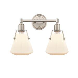 Innovations Lighting Bruno Marashlian Luna 18 Inch 2 Light Bath Vanity Light Luna - 422-2W-SN-G4221-7 - Nautical