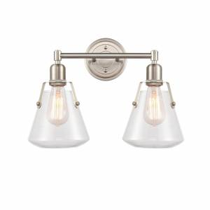 Innovations Lighting Bruno Marashlian Luna 18 Inch 2 Light Bath Vanity Light Luna - 422-2W-SN-G4222-7 - Nautical