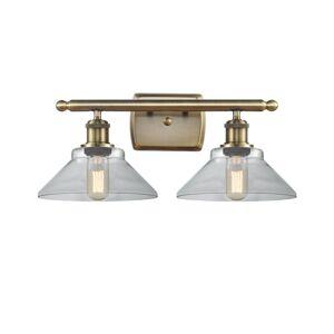Innovations Lighting Bruno Marashlian Orwell 18 Inch 2 Light Bath Vanity Light Orwell - 516-2W-AB-G132 - Nautical