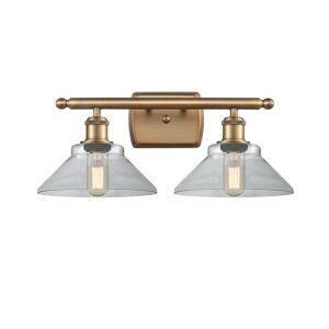 Innovations Lighting Bruno Marashlian Orwell 18 Inch 2 Light Bath Vanity Light Orwell - 516-2W-BB-G132-LED