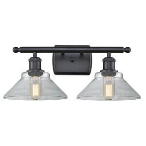 Innovations Lighting Bruno Marashlian Orwell 18 Inch 2 Light LED Bath Vanity Light Orwell - 516-2W-BK-G132-LED - Restoration-Vintage
