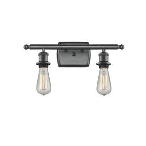 Innovations Lighting Bruno Marashlian Bare Bulb 16 Inch 2 Light Bath Vanity Light Bare Bulb - 516-2W-BK-LED - Restoration-Vintage