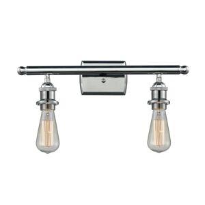 Innovations Lighting Bruno Marashlian Bare Bulb 16 Inch 2 Light Bath Vanity Light Bare Bulb - 516-2W-PC-LED - Restoration-Vintage