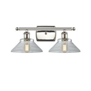 Innovations Lighting Bruno Marashlian Orwell 18 Inch 2 Light Bath Vanity Light Orwell - 516-2W-PN-G132-LED