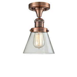 Innovations Lighting Bruno Marashlian Small Cone 6 Inch 1 Light Semi Flush Mount Small Cone - 517-1CH-AC-G62 - Restoration-Vintage
