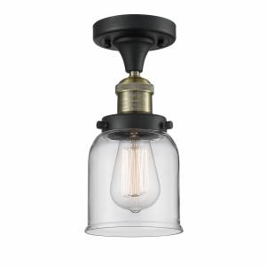 Innovations Lighting Bruno Marashlian Small Bell 5 Inch 1 Light Semi Flush Mount Small Bell - 517-1CH-BAB-G52 - Restoration-Vintage