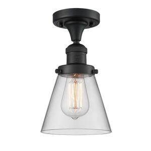 Innovations Lighting Bruno Marashlian Small Cone 6 Inch 1 Light Semi Flush Mount Small Cone - 517-1CH-BK-G62 - Restoration-Vintage