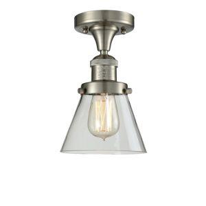 Innovations Lighting Bruno Marashlian Small Cone 6 Inch 1 Light Semi Flush Mount Small Cone - 517-1CH-SN-G62 - Restoration-Vintage
