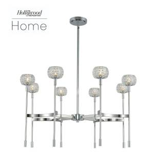 Kalco Lighting Mae 32 Inch 8 Light LED Chandelier Mae - 511672CH - Modern Contemporary