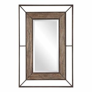 Uttermost Uttermost Ward Open Framed Wood Mirror Decorative Mirrors Ward - 09481 - Rustic