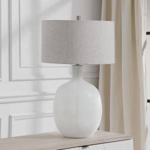 Uttermost Carolyn Kinder Whiteout 29 Inch Table Lamp Whiteout - 28469-1 - Traditional