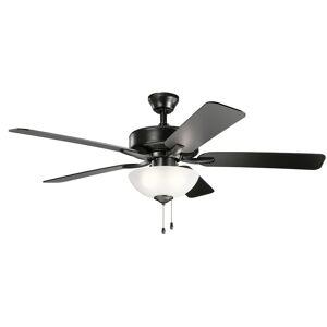Kichler Lighting Basics Pro Select 52 Inch Ceiling Fan with Light Kit Basics Pro Select - 330017SBK - Traditional