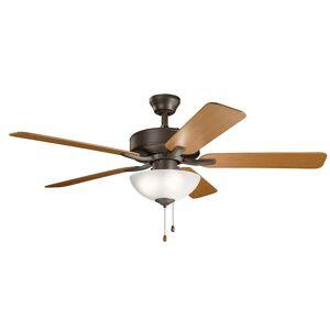 Kichler Lighting Basics Pro Select 52 Inch Ceiling Fan with Light Kit Basics Pro Select - 330017SNB - Traditional