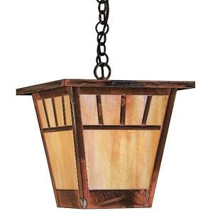 Arroyo Craftsman Savannah Outdoor Pendant Light - SH-7-RB-OF - Size: Small - Style: Craftsman & Mission