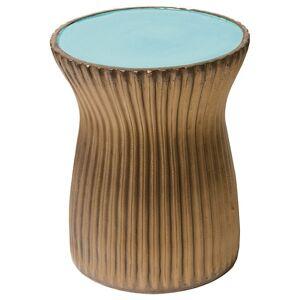 Seasonal Living Ridged Ceramic Stool Set of Two - 308FT226P2OM
