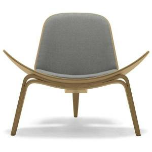 Carl Hansen CH07 Lounge Chair - CH07 - OAK LAQ - LOKE 7150 - Style: Mid-Century Modern