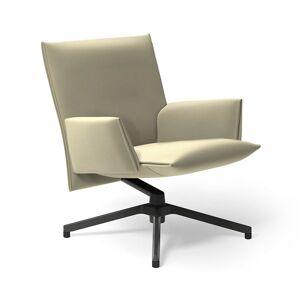 Knoll Pilot Swivel Low Back Lounge, Upholstered Arms - BO31-AU-P-SA BLCK - Knoll Authorized Retailer