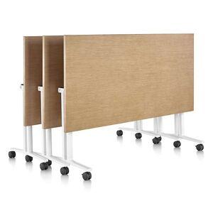 "Herman Miller Everywhere Rectangular Flip-Top Table - DT5AS.2448LT9191MS20 - Size: 48"" - Herman Miller Authorized Retailer - Style: Industrial"