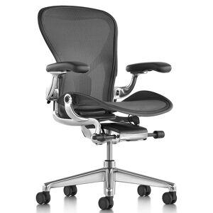 Herman Miller Aeron Office Chair - Size C, Graphite - AER1C21DWSZSG1G1G1C7BK23103 - Herman Miller Authorized Retailer - Style: Industrial