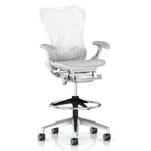 Herman Miller Mirra 2 Office Stool Triflex Back with Fixed Arms-Lumbar Support - MRF753PWFPAJ6K9BBG1BK1A701 - Herman Miller Authorized Retailer