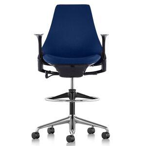 Herman Miller Sayl Stool-Upholstered with Height Adjustable Arms - AS7SC52HFN267C798BK3005 - Herman Miller Authorized Retailer