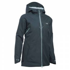 Under Armour Women's UA ColdGear Infrared Revy Insulated Jacket - XS - Stealth Grey / Aqua Falls / Steel