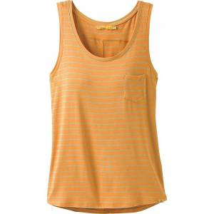 Prana Women's Foundation Scoop Neck Tank Top - Large - Curry Heather Stripe