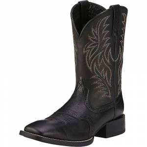 Ariat Men's Sport Western Wide Square Toe Boot - 15Wide EE - Black Deertan/Black