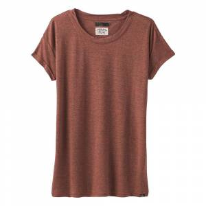 Prana Women's Cozy Up T-Shirt - Small - Chai Heather