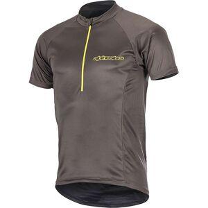 Alpinestars Alpine Stars Men's Elite SS Jersey - Large - Dark Shadow / Acid Yellow
