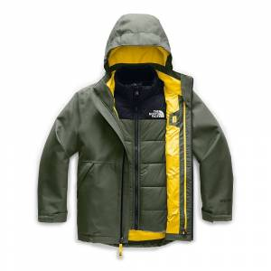 The North Face Boys' Fresh Tracks Triclimate Jacket - Large - New Taupe Green