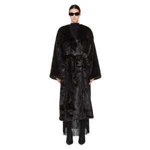 Balenciaga Brown Faux Fur Coat- female, 42; Brown