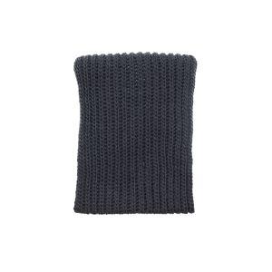 Yohji Yamamoto Grey Wool Snood Scarf- female, 2; Grey
