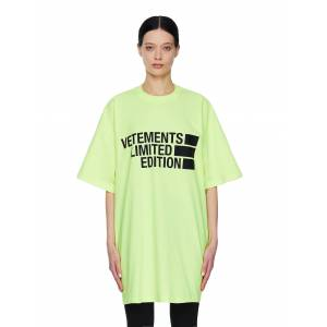 Vetements Oversize Limited Edition Printed T-shirt- female, M; Green