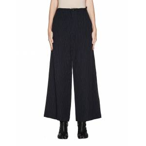 Y's Black Striped Trousers- female, 2; Black